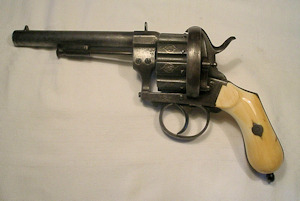 Click to enlarge a ten shot 12mm pinfire revolver