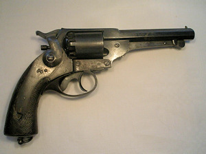 Click to enlarge a good Spanish license copy of a 54 bore Kerr percussion revolver