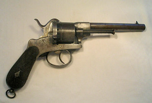Click to enlarge a very good 12mm. Birmingham prooved pinfire revolver
